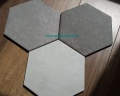 od góry Hexatile Cement Grey , i Black, niżej White